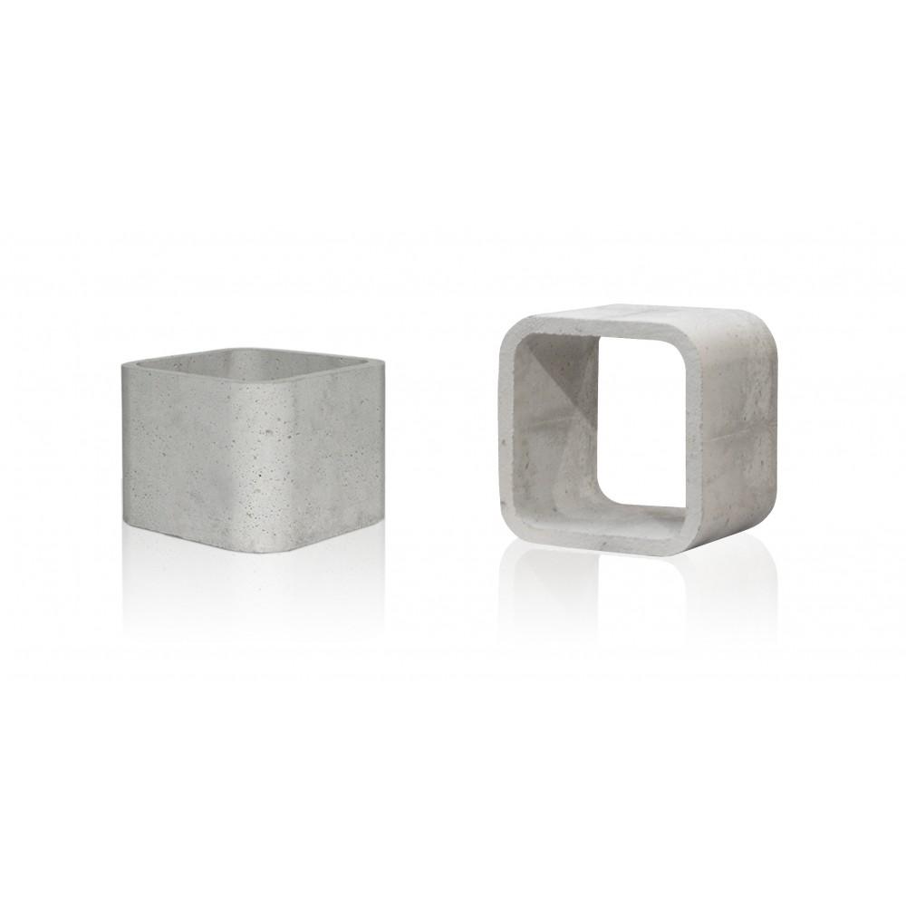 Stolik betonowy szary kubik mały - zdjęcie nr 5