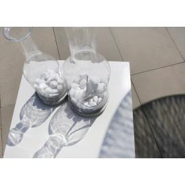 Butelki szklane wazony z otworem do formowania roślinności