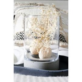 Słój szklany z podstawą betonową cylinder