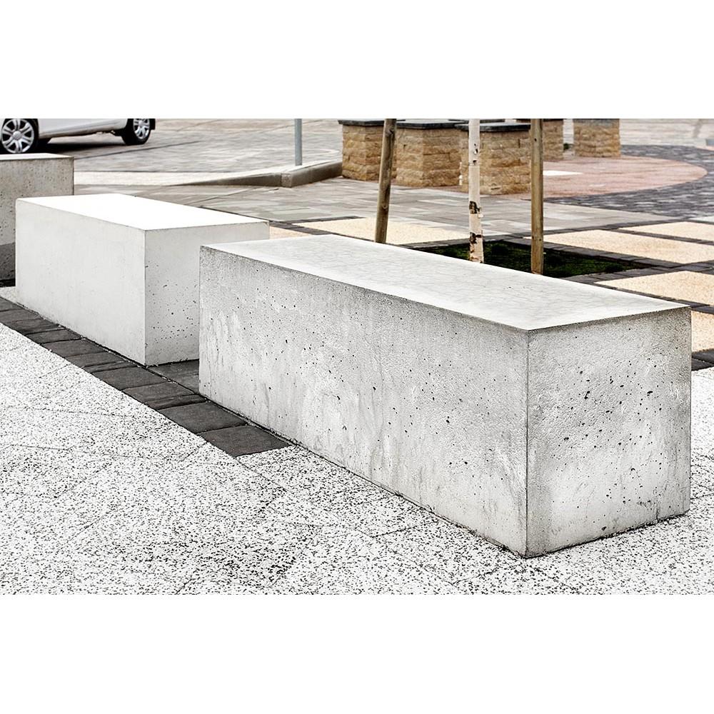 Ławka betonowa szara Gardenpark - zdjęcie nr 2