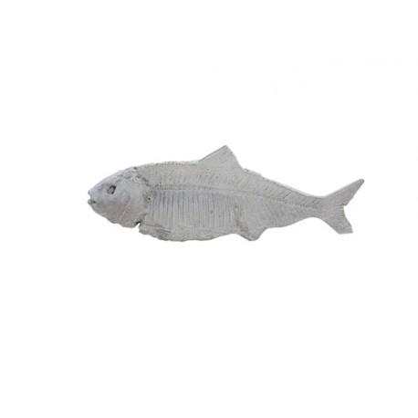 ryby figurki dekoracyjne białe beton
