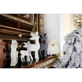 białe renifery figurki