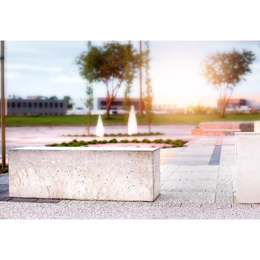 Ławka betonowa czarna Gardenpark - zdjęcie nr 1