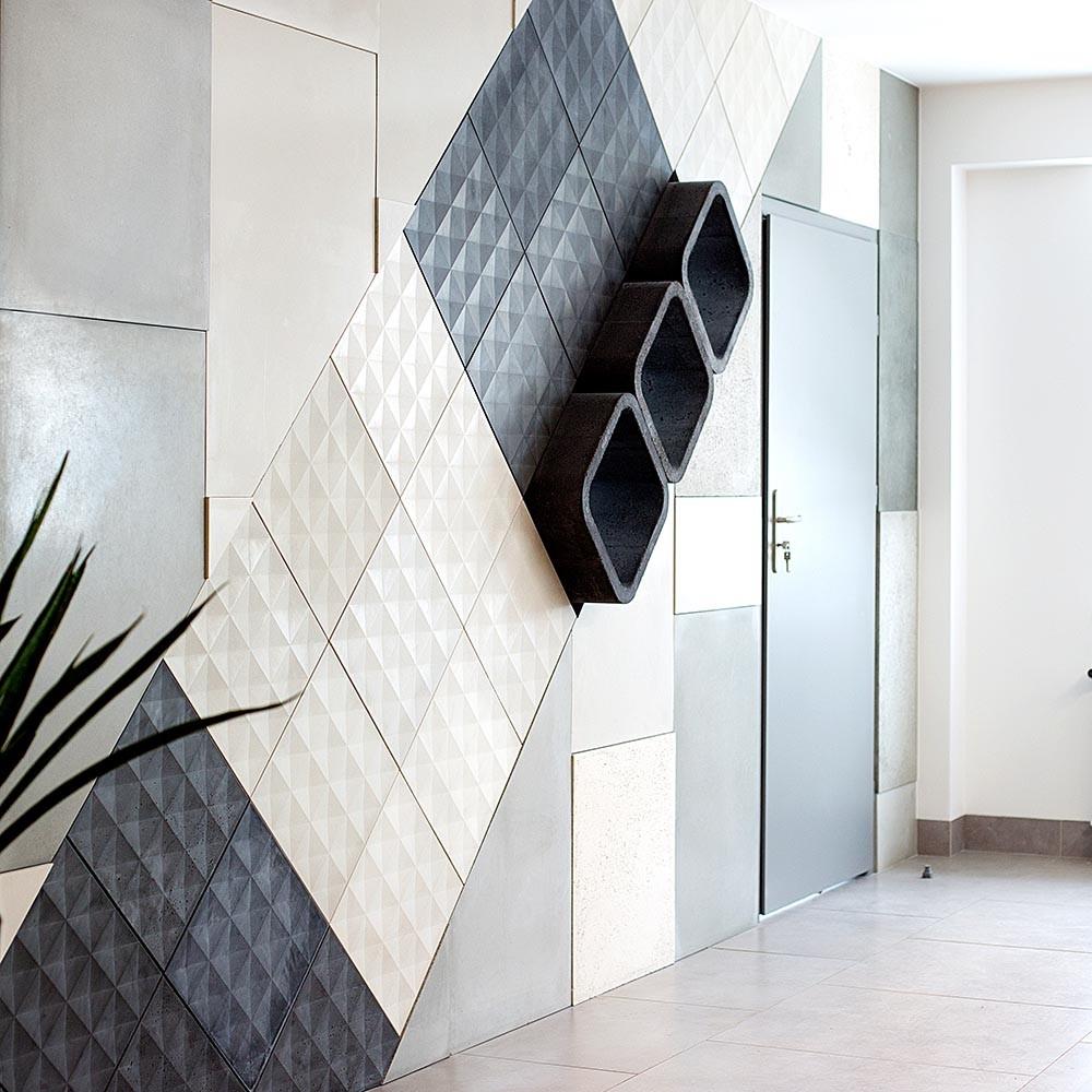Płyty Betonowe 3d Dekoracyjny Beton W Salonie Limestore