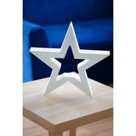 gwiazda beton ozdobny podstawa na świece na stół