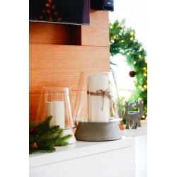 Lampion Santa średni z podstawą betonową
