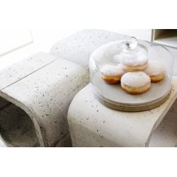 Patera szklana z podstawą betonową CAKE